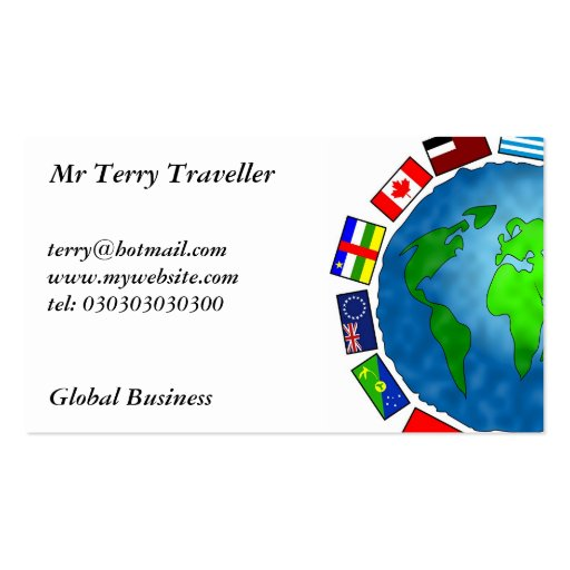 Flag Planet, Double-Sided Standard Business Cards (Pack Of 100)