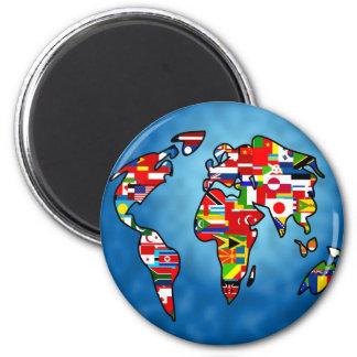Flag Planet Magnets