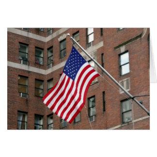 flag pole greeting card
