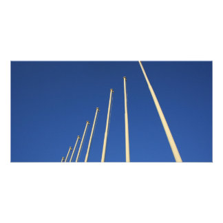 Flag Poles photographed in Athens Greece Picture Card