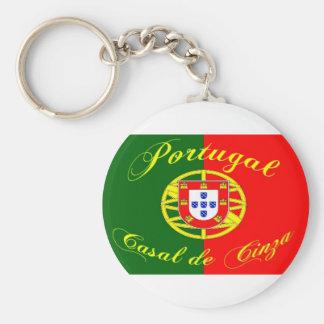 flag-Portugal Basic Round Button Keychain