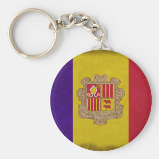 Flag principality Andorra Keychain