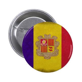 Flag principality Andorra Pinback Button
