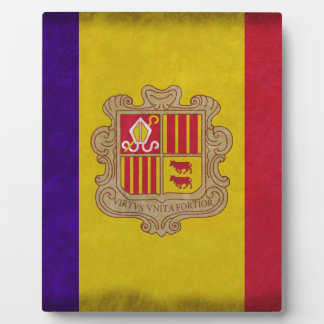 Flag principality Andorra Photo Plaque