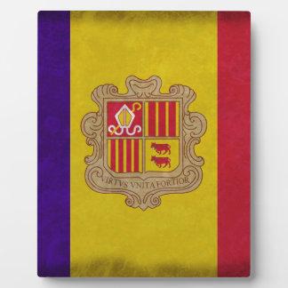Flag principality Andorra Plaque