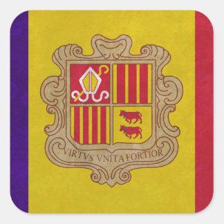 Flag principality Andorra Square Sticker