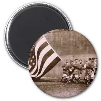 Flag Raising Ceremony 1914 Ebbets Field 2 Inch Round Magnet