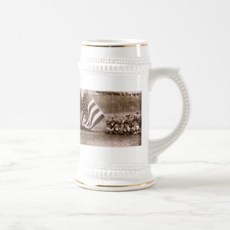 Flag Raising Ceremony 1914 Ebbets Field Beer Stein
