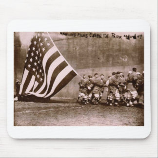Flag Raising Ceremony 1914 Ebbets Field Mouse Pad