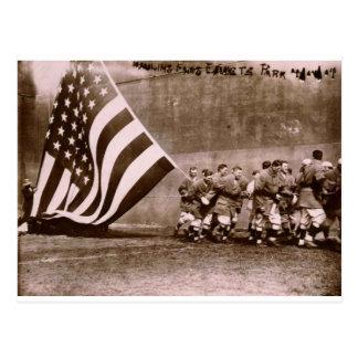 Flag Raising Ceremony 1914 Ebbets Field Postcard