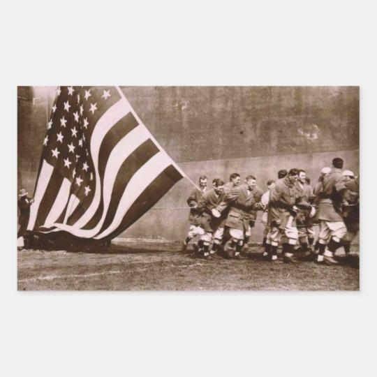 Flag Raising Ceremony 1914 Ebbets Field Rectangular Sticker