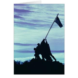 Flag Raising on Iwo Jima notecards Card