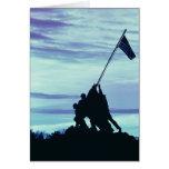 Flag Raising on Iwo Jima notecards Greeting Cards