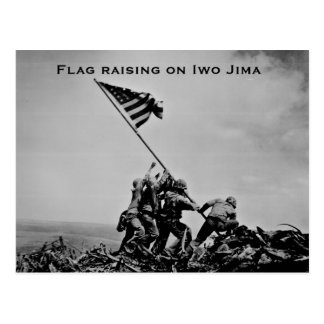 Flag raising on Iwo Jima Postcard