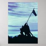 Flag Raising on Iwo Jima poster