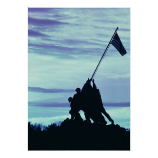 Flag Raising on Iwo Jima poster