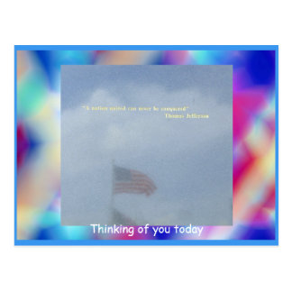 Flag Reflection Postcard