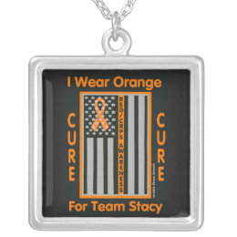 Flag...RSD/CRPS...Stacy Silver Plated Necklace