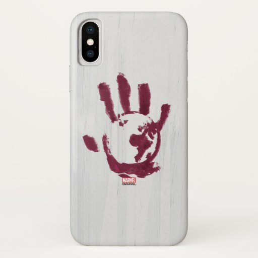 Flag Smasher Global Hand Print iPhone X Case