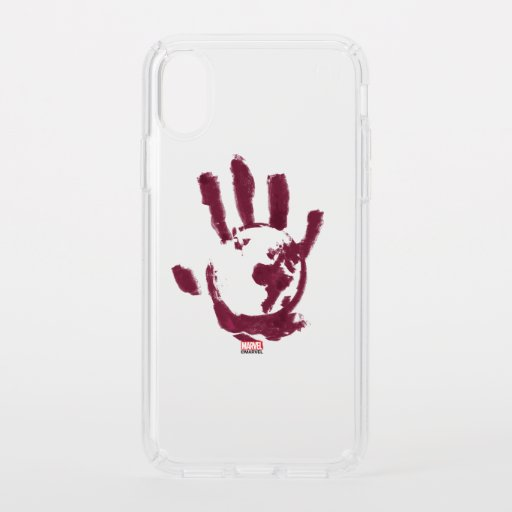 Flag Smasher Global Hand Print Speck iPhone X Case