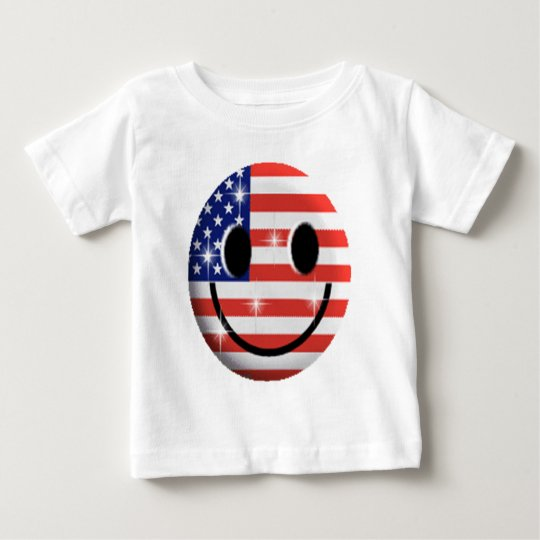 flag smiley face baby T-Shirt
