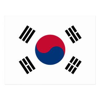 Flag South Korea 대한민국 Postcard