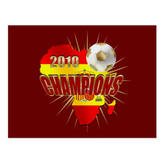Flag Spain Champions in 2010 Postcard