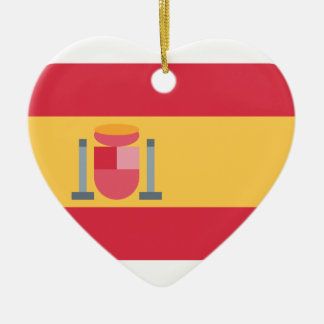 Flag spain Twitter emoji Adorno Navideño De Cerámica En Forma De Corazón