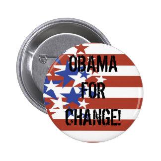 FLAG STARS STRIPES OBAMA FOR CHANGE PINS