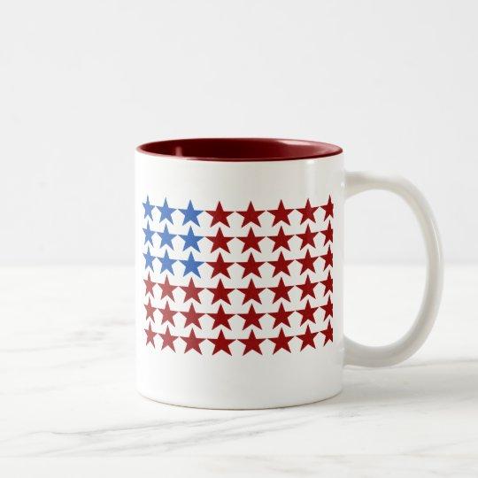Flag Stars Two-Tone Coffee Mug