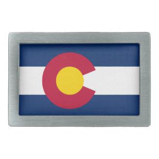 Flag State Colorado Belt Buckle