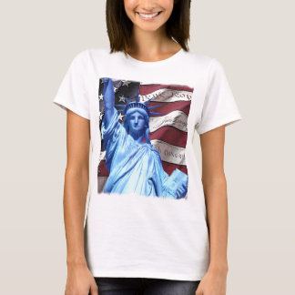 Flag & Statue of Liberty design T-Shirt