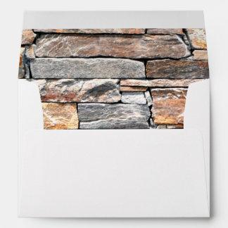 Flag stone envelope