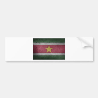 Flag Suriname Bumper Sticker