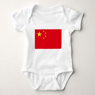 Flag symbols chinese free baby bodysuit