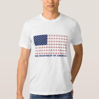 Flag T-Shirt Heartbeat of America T-Shirt