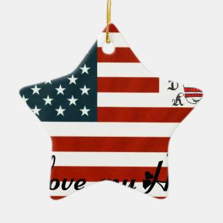 FLAG TDM COILS MY HARLEY.png Ceramic Ornament