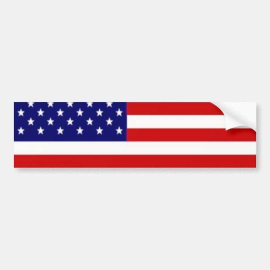 Flag template bumper sticker