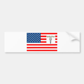 FLAG the USA SHOWS OFF OF BISON 1.PNG Bumper Sticker