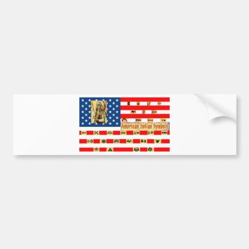 FLAG the USA SYMBOLS 1.PNG Bumper Sticker