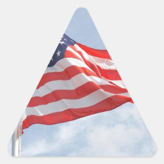 Flag U S A United States America Triangle Sticker