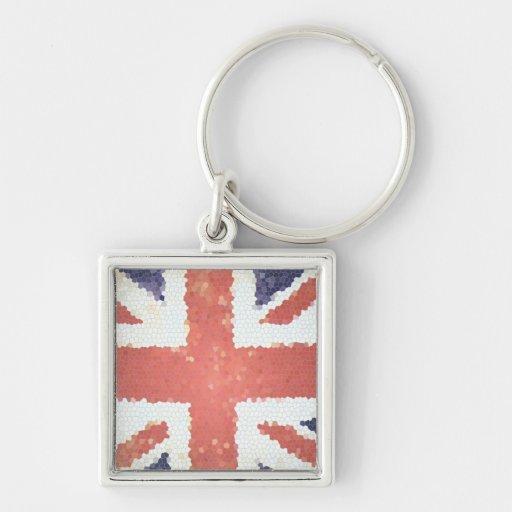 Flag Union Jack United Kingdom mosaic Key Chains