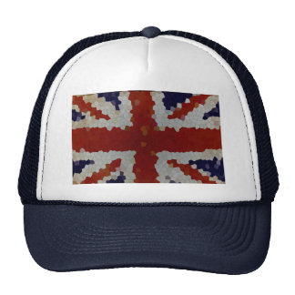 Flag Union Jack United Kingdom mosaic Trucker Hat