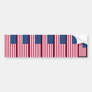 FLAG_USA, 4 July Independence Day Bumper Sticker
