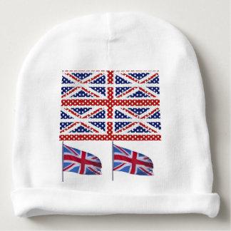 Flag USA British Patriotic stars stripes eagle Baby Beanie