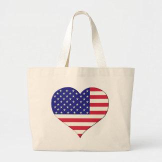 Flag USA heart Bag