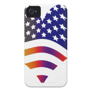 flag usa heart love american honor troops stripes iPhone 4 cases