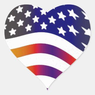 flag usa heart love american honor troops stripes heart sticker
