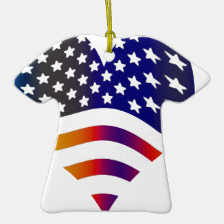 flag usa heart love american honor troops stripes christmas tree ornaments