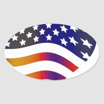 flag usa heart love american honor troops stripes oval sticker